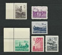 Nazi WWII Rare WW2 Stamps MNH Set 1941 Castles Hitler Estonia Occupation Estland
