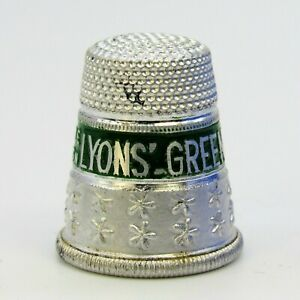 COLLECTABLE METAL THIMBLE 'LYONS GREEN LEAF TEA'