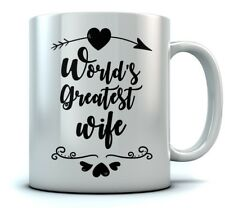 World's Greatest Wife Coffee Mug - Valentine's Gift For Couples Ceramic Tea Mug