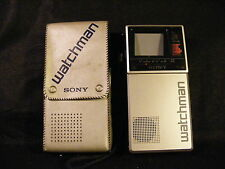 Sony Watchman Fd-20A Portable Handheld Vhf/Uhf Tv w/Sony Case Tested Works