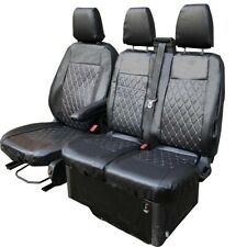 VAUXHALL ASTRA  Leather Look CAMBRIDGE Grey//Black FRONT Van Seat Covers