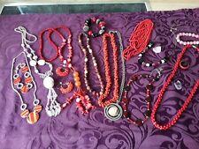 Konvolut Halbedelstein - Anhänger , Perlenketten , Armbänder , Modeschmuck u.s.w