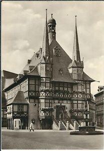 Ansichtskarte Wernigerode - Rathaus auf dem Marktplatz - schwarz/weiß