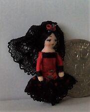"""Dollhouse Miniature Porcelain Dollhouse Doll Ethel Hicks """"Wee Spain"""""""