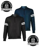 New Mens Designer Bomber Jacket Summer Harrington Coat, Collar Neck Zip Striped