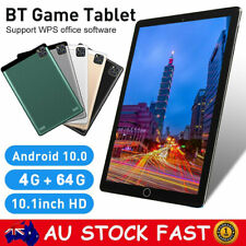 10.1 Inch Android 10.0 Bluetooth Tablet PC 4+64GB WiFi 1080P Dual Camera GPS WPS