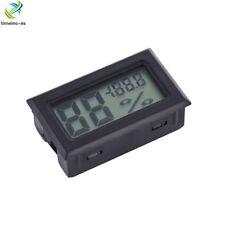 New Digital LCD Indoor Temperature Humidity Meter Thermometer Hygrometer Black