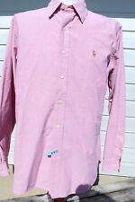 Men's Long-sleeve Shirt (Pink) XL (Extra Large) Ralph Lauren Classic Fit Loren