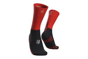 Compressport Mid Compression Socks Black Men's Womens Running Sport XU00005B-906