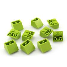 LEGO 3660: 10x Dachstein/Schrägstein 45° 2x2 invertiert lime (slope) NEU