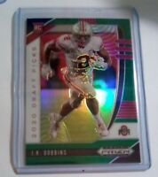JK Dobbins Green Prizm RC 2020 Draft Picks Baltimore Ravens Ohio State Rookie