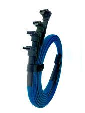 Lot 4x 24inch SATA 3.0 III SATA3 SATAiii 6GB/s HDD Hard Drive Data Cable Blue