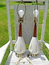 2 Eames Atomic Mid-Century LAMP Vintage Retro danish teak LAMPS retrro