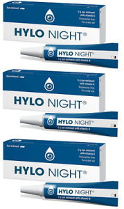 3 x Hylo Night Vitamin A Eye Ointment Preservative Free (Was Called Vitapos ) 5g