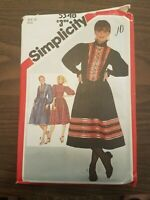 Simplicity 5348 sewing pattern, misses blouses, sizes 12 Partially Cut