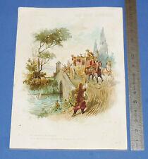 RARE GRAND CHROMO 1900-1902 AU BON MARCHE BOUCICAULT PARIS LE CHAT BOTTE