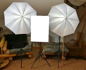 Studiobeleuchtung-Set Studioset Fotografie Fotostudio Kits mit Stative & Schirm