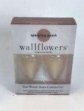 NEW Bath & Body Works SPARKLING PEACH Wallflower Refill Bulbs x 2