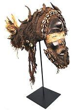 Art Africain - Masque Dan à la Coiffe Traditionnelle - Avec Socle sur Mesure +++
