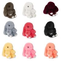 Wholesale Cute Bunny Rex Rabbit Fur Phone Car Pendant Handbag Girl Key Chain Pom