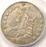 1814 Bust Half Dollar 50C O-102 - ANACS AU50 Details - Rare Certified Coin!
