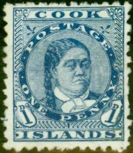 Cook Islands 1894 1d Blue SG6 Fine Unused