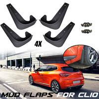 Front Rear Mud Flaps Mudflaps For Renault Clio 2 3 4 5 Mudguards Splash Guards