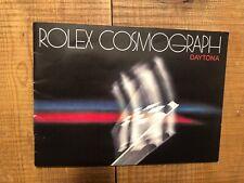 Rolex libretto booklet daytona 6263 6265 del 1982 in inglese /USA