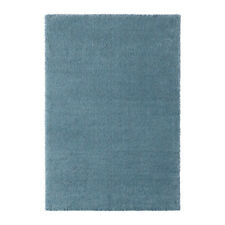 Ikea Stoense Short Pile Carpet Shaggy Light Blue 133x195 Cm Fluffy Soft