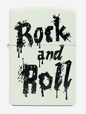 ZIPPO  Rock and Roll  Weiss matt mit Druck  Top