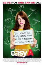 EMMA STONE EASY A 27X41 AUTHENTIC DOUBLE SIDED THEATRE RELEASE POSTER