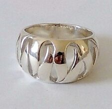 925 STERLING SILVER BULKY RING size P or R1/2    everyday wear