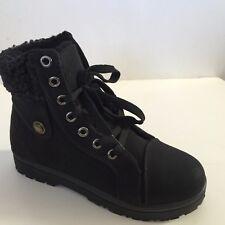 Women's Sneaker Boots Winter High Top Lace up Fur Combat Warm Snow Shoes