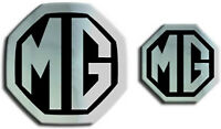 MG ZT MK1 Saloon Car Front & Rear Badge Inserts 59mm  & 40mm Chrome Black Badges