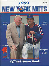 1989 New York Mets Official Score Book vs Yankees UNSCORED Cashen Johnson Cover