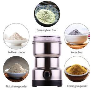 Household Electric Grain Grinder Stainless Steel Blade Coffee Bean Nut Grinder