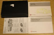VAUXHALL ASTRA G OWNERS MANUAL HANDBOOK WALLET 1998-2005 PACK A-548