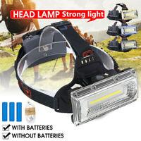 99000LM LED USB Rechargeable 18650 Headlamp Headlight Fishing Torch Flashlight .