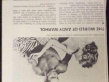 m9-9z ephemera 1970/s film article the world of andy warhol sylvia iles
