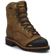 CHIPPEWA 25374  work boots , vibram sole, waterproof , MADE IN USA  size 9 D
