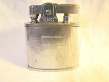 Vintage Continental CMC Chrome Striped Automatic  Lighter Sparking Well