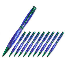 Fancy Pen Kit, Green Finish, 10 Pack, Legacy Woodturning