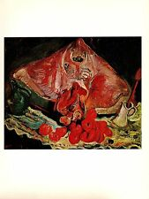 """1977 Vintage SOUTINE """"STILL LIFE WITH RAY"""" GORGEOUS COLOR offset Lithograph"""
