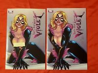 TOTALLY RAD LIFE OF VIOLET #2 SEXY BLACK CAT COSPLAY RISQUE SET ZOMBIE TRAMP