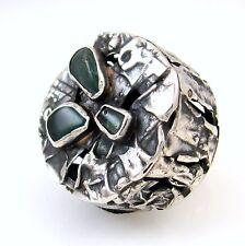 Israeli Modernist Sterling Silver Chalcedony Ring RACHEL GERA Sz 7 | RS AL