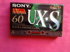 Rare Cassette K7  Sony 60 UX.S / For CD - Neuf Sous Blister S