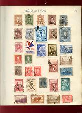 Argentina Album Page Of Stamps #V4769