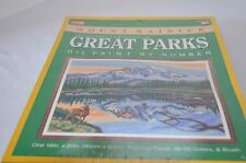 Vintage Craft House Oil Paint by Number Great Park Mount #12852 New Sealed