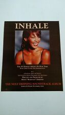 Whitney Houston In Hale 1995 Rare Original Print Promo Poster Ad