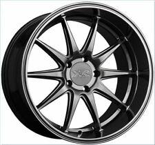 XXR 527D 18x9 5x100 +35 Chromium Black Set of (4) Rims Wheels